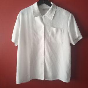 Gloria Vanderbilt Short Sleeve Top Sz Large